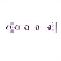 Organizador horizontal de cable 5 aros