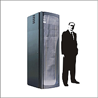 Rack para servidores 19 pulgadas 40 UR con aire acondicionado