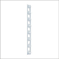 Organizador con aros vertical para cableado