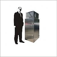 Gabinete de acero inoxidable para intemperie con aire acondicionado 24 UR